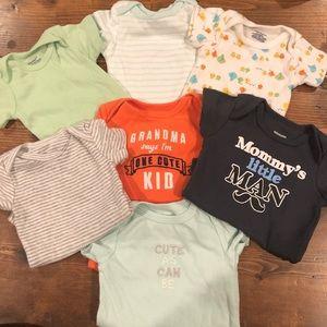 7 infant bodysuits